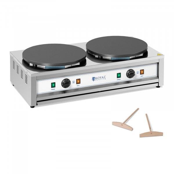 Crêpière électrique - 2 plaques chauffantes - 2 x 400 mm - 2 x 3000 W