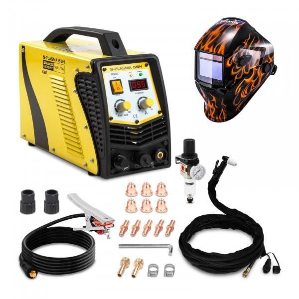 Set d'équipement de soudage Découpeur plasma - 55A - 230V + Masque de soudure –Firestarter 500 – ADVANCED SERIES