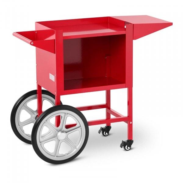 Chariot à popcorn - rouge - 2 freins