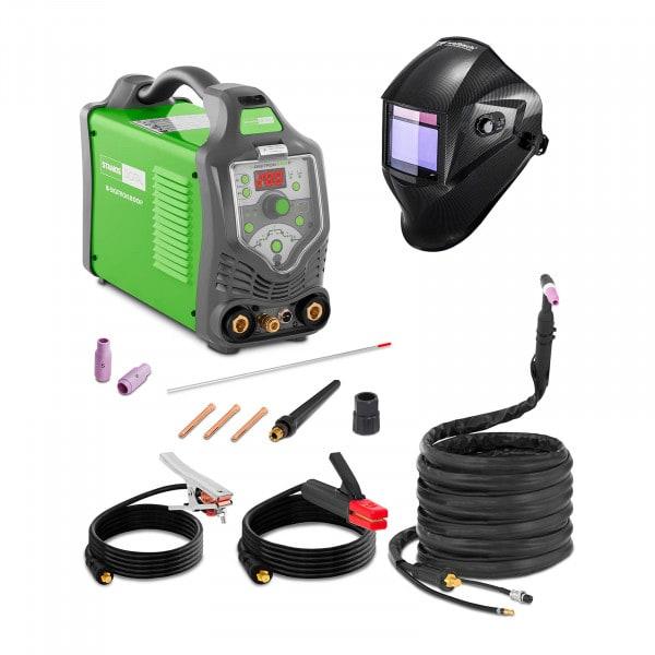 Set d'équipement de soudage Poste à souder TIG - 200A - 230V - Puls - digital + Masque de soudure – Carbonic – PROFESSIONAL SERIES