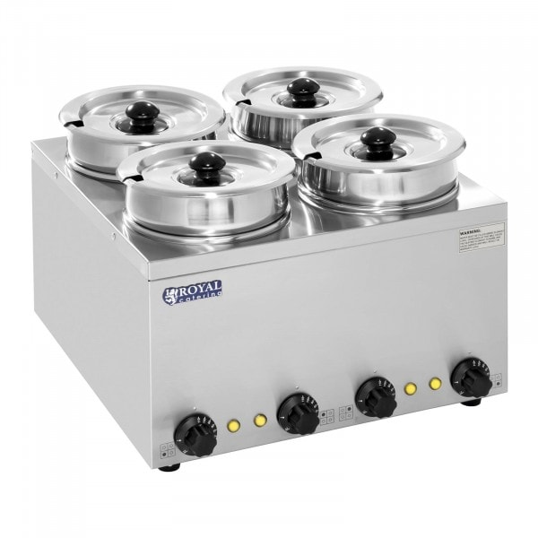 Suppenstation - 4 x Topf - 2,75 Liter - 600 W - 1239 - 1