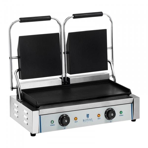 Machine à panini - Lisse - 2 x 1800 W