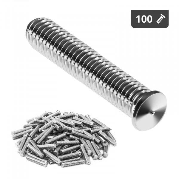 Goujons de soudage - M5 - 25 mm - Acier inoxydable - 100 pièces