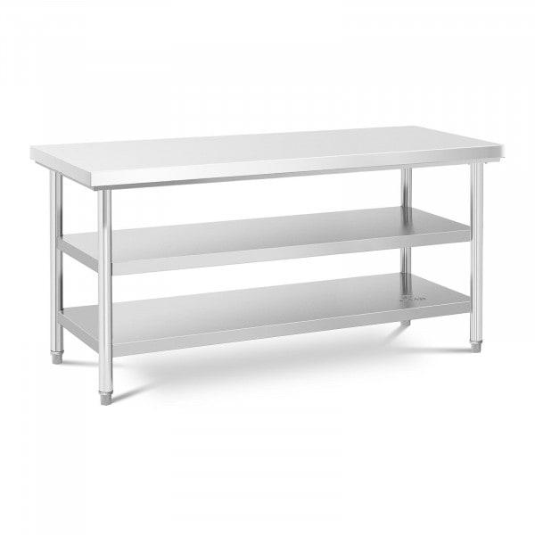 Table de travail inox - 70 x 180 cm - 600 kg - 3 niveaux