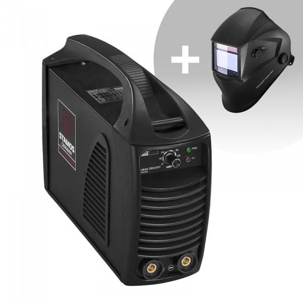 Set d'équipement de soudage Poste à souder à l'arc - 250A - Hot Start - IGBT + Masque de soudure – Blaster – ADVANCED SERIES