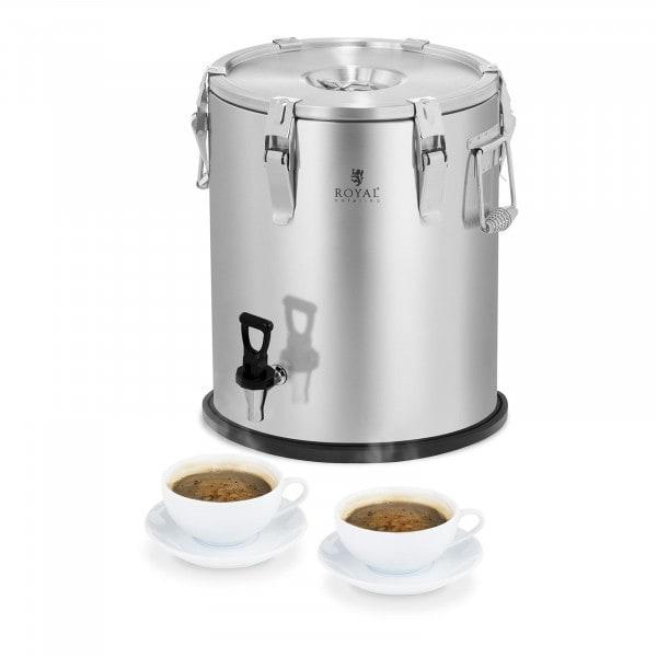 Conteneur isotherme - acier inoxydable - 25 L - avec robinet