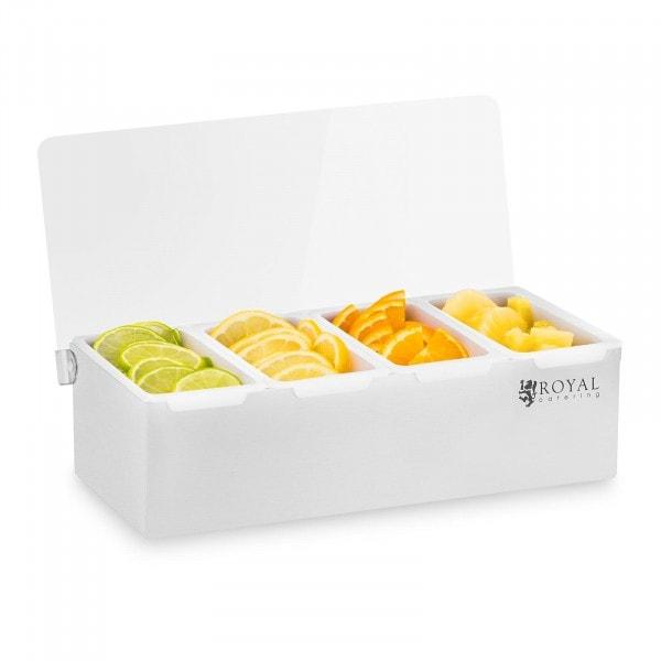 Boîte à condiments - Acier inoxydable/PP - 4 x 450 ml