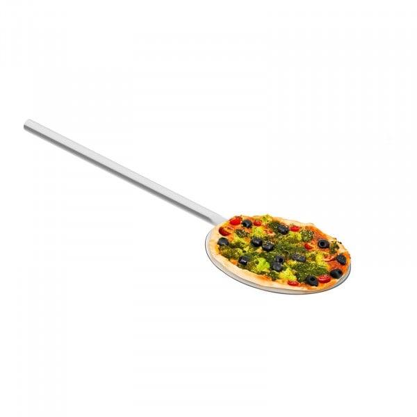 Pelle à pizza inox - 60 cm de long - 20 cm de diamètre