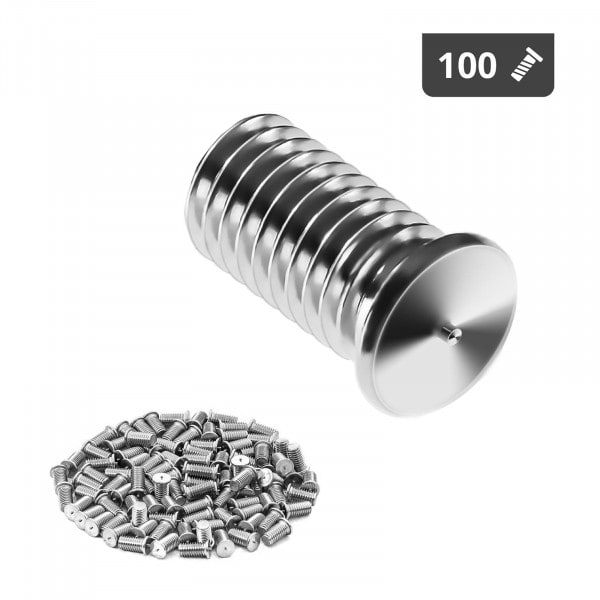 Occasion Goujons de soudage - M8 - 16 mm - Acier inoxydable - 100 pièces