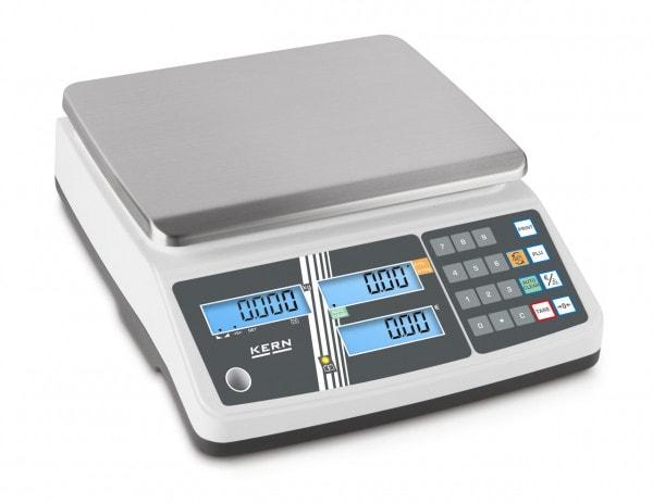 KERN Balance poids-prix blanche - 6kg / 2g - LCD