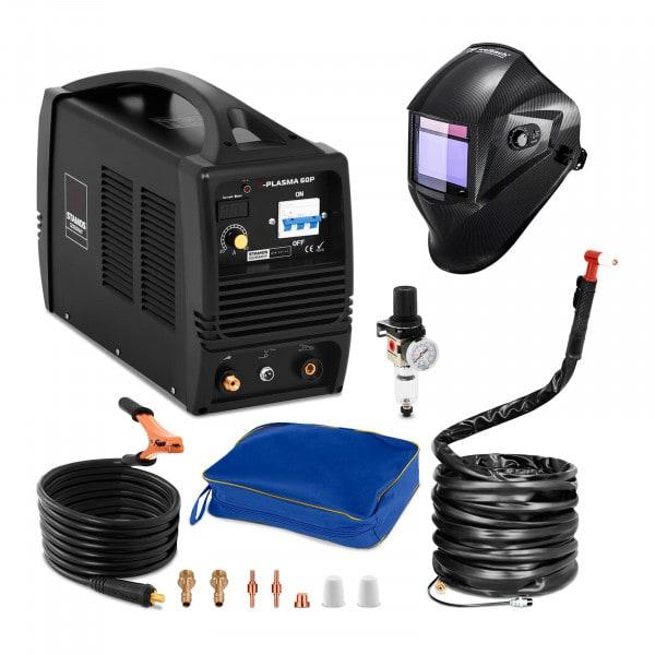 Set d'équipement de soudage Découpeur plasma - 60A - 400V + Masque de soudure – Carbonic – PROFESSIONAL SERIES