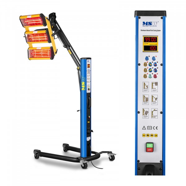 Lampe infrarouge carrosserie - 3300 W - de 3 émetteurs