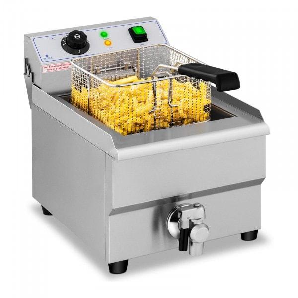 B-WARE Friteuse électrique - 1 x 16 litres - Robinet de vidange - 230 V