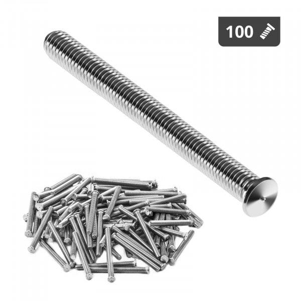 Goujons de soudage - M4 - 40 mm - Acier inoxydable - 100 pièces