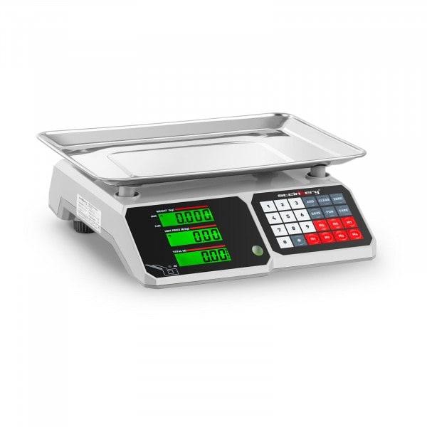 Balance de contrôle - 30 kg / 1 g - 34,1 x 24,1 cm - LCD