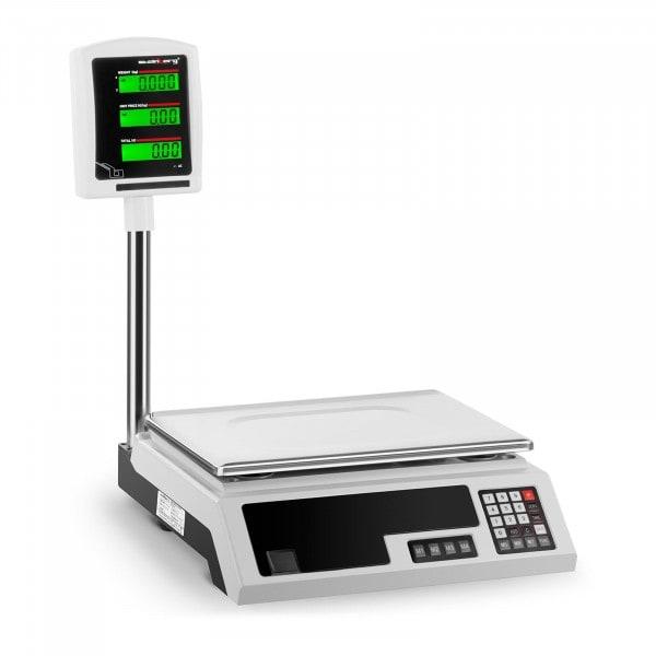 Balance de contrôle - 30 kg / 1 g - 34 x 23 cm - 2 LCD