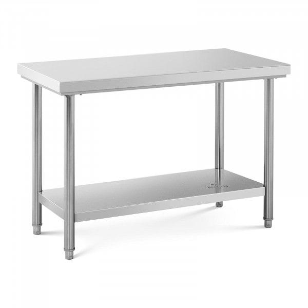 Table de travail inox - 120 x 60 cm - Capacité de 110 kg