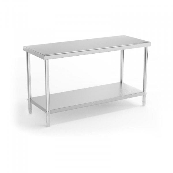 Table de travail en inox - 150 x 60 cm - Capacité de charge de 230 kg