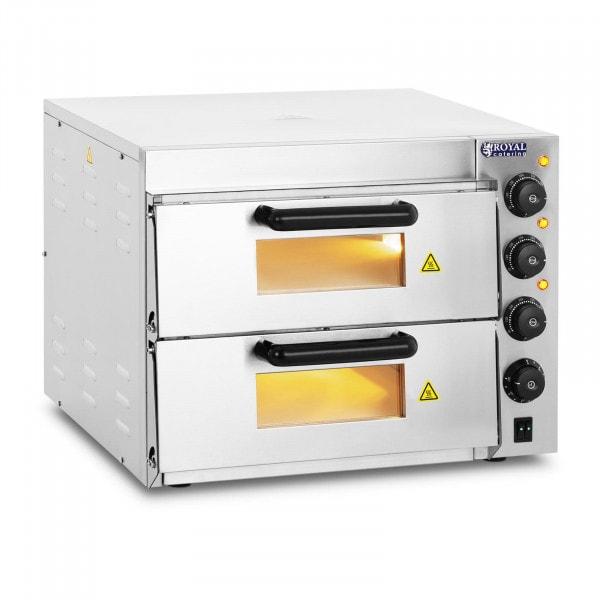 Four à pizza - 2 chambres - Base en chamotte