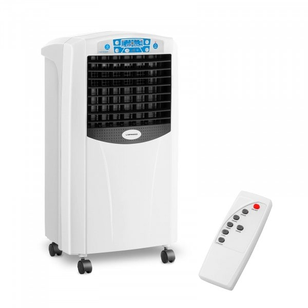 Rafraichisseur d'air évaporatif avec fonction chauffante - 5-en-1 - Réservoir d'eau de 6 litres