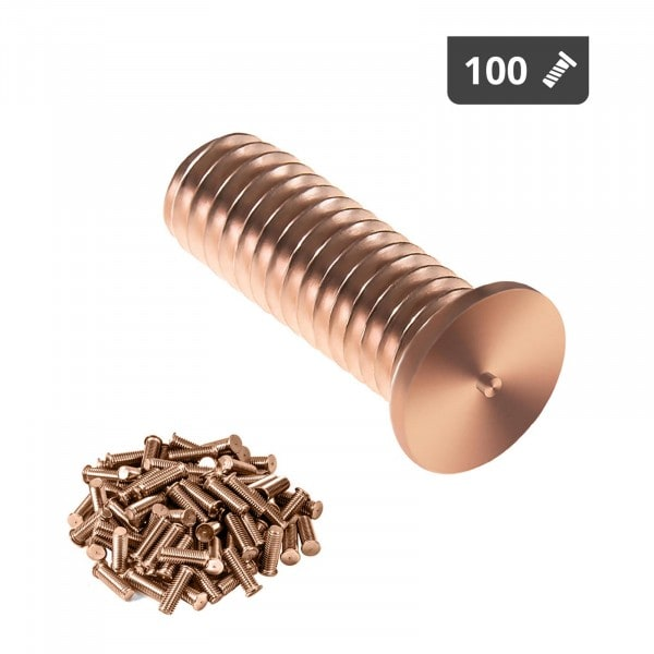 Goujons de soudage - M3 - 10 mm - Acier - 100 pièces