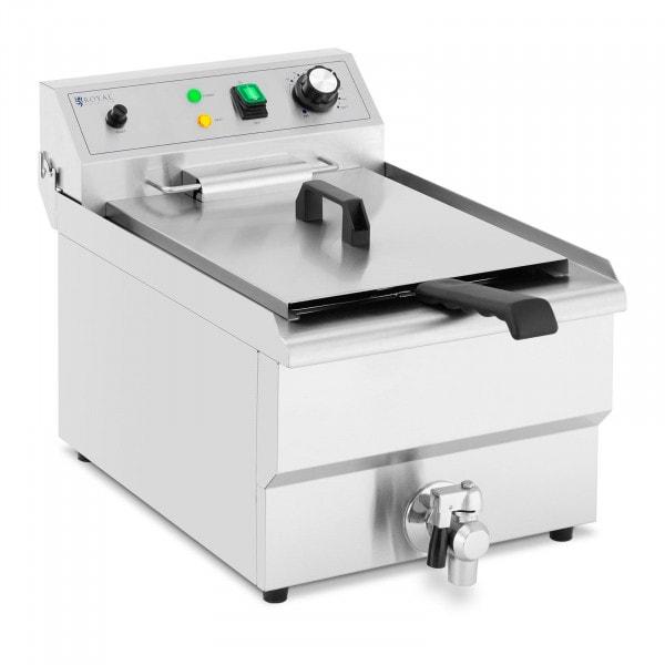 Friteuse électrique - 13l - 5000 W - Robinet de vidange - Zone froide