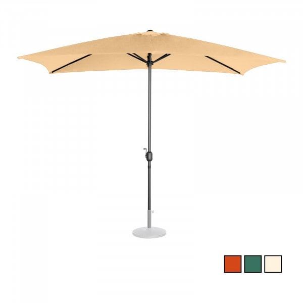 Parasol de terrasse - taupe - 200 x 300 cm - acier/aluminium