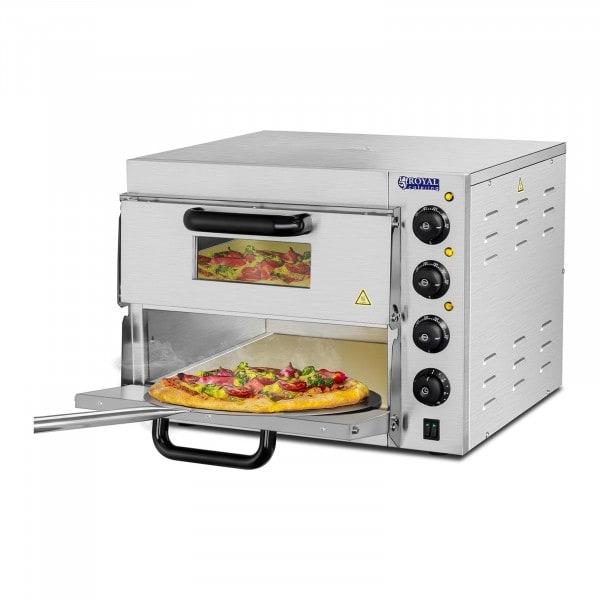 B-WARE Four à pizza - 2 chambres - Base en chamotte