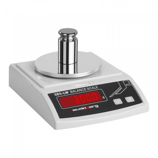 Balance de précision - 3 000 g / 0,1 g - blanche