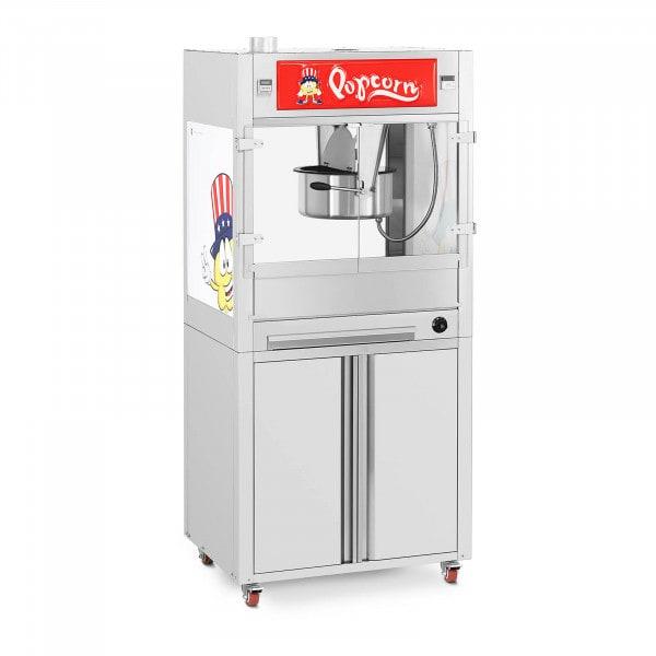 Machine à popcorn - Avec armoire sur roulettes - Royal Catering - Grande