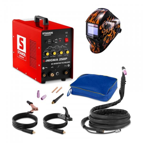 Set d'équipement de soudage Poste à souder TIG - 250A - 230V - Puls + Masque de soudure –Firestarter 500 – ADVANCED SERIES