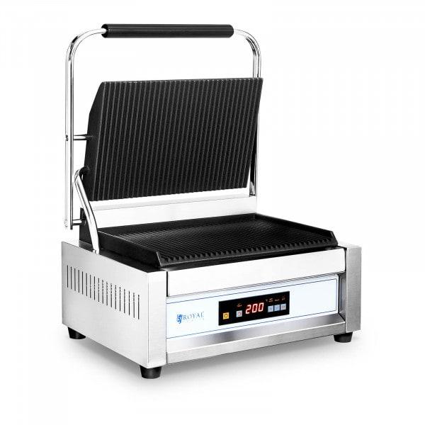 Machine à panini rainurée - 10057 - 2200 W - Grandes plaques