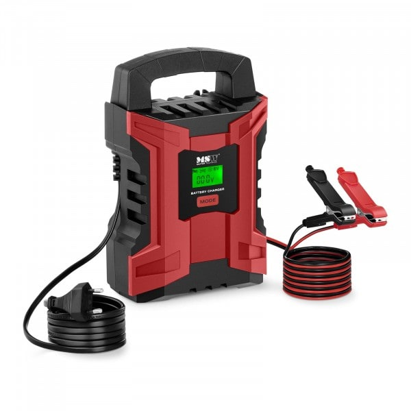 Chargeur de batterie de voiture - 6/12 V - 2/10 A - Afficheur LCD