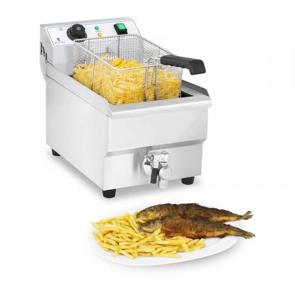 Friteuse électrique - 10 litres avec robinet de vidange