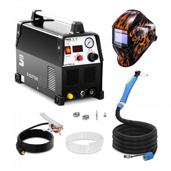 Set d'équipement de soudage Découpeur plasma - 50A - 230V - Pro + Masque de soudure –Firestarter 500 – ADVANCED SERIES