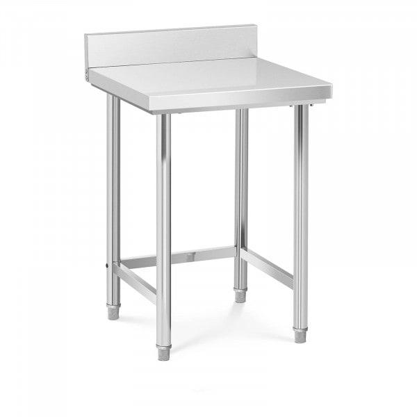 Table de travail inox - 64 x 64 cm - Avec dosseret - Capacité de charge de 200 kg
