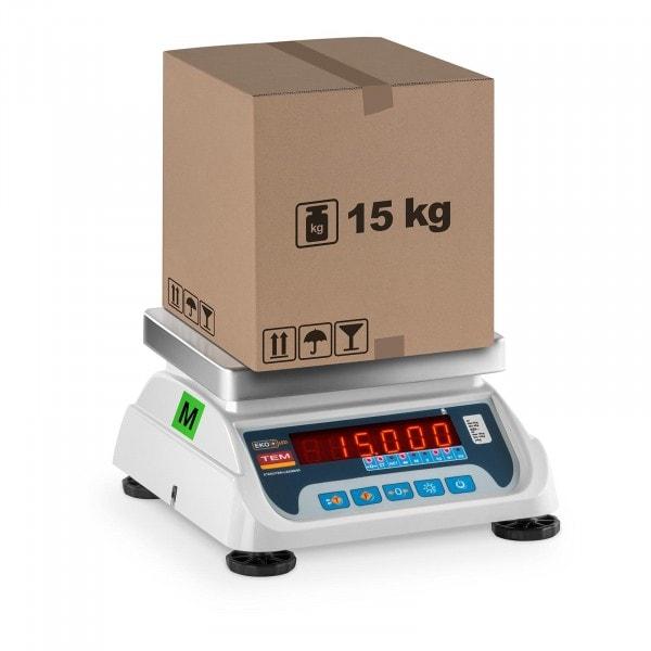 Balance poids-prix - Calibrage certifié - 6 kg / 2 g - 15 kg / 5 g - LED