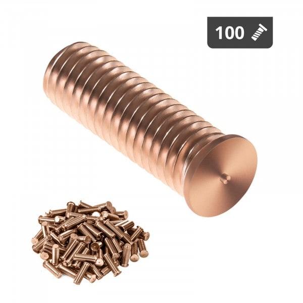 Goujons de soudage - M8 - 25 mm - Acier - 100 pièces