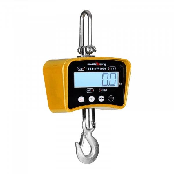 Crochet peseur jaune - 1000kg / 0,2kg