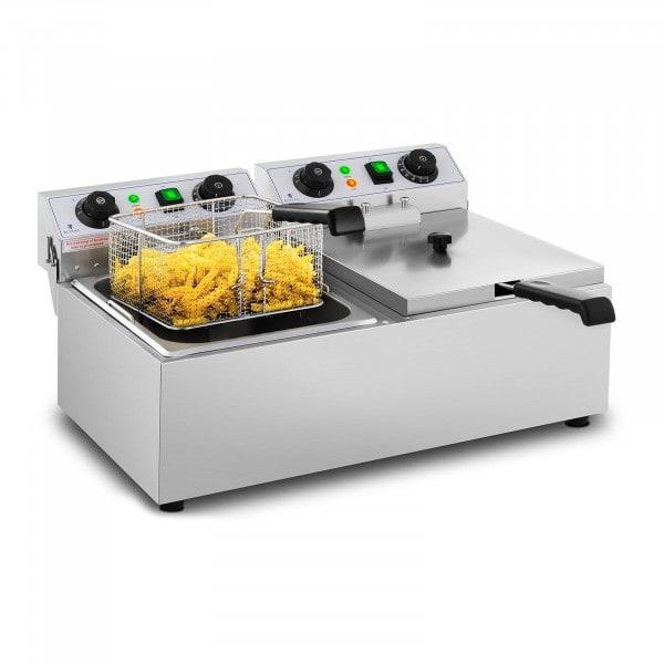 Friteuse électrique - 2 x 10 litres - Minuterie