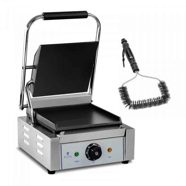 Kit machine à panini et brosse de nettoyage - 1 800 W - Lisse