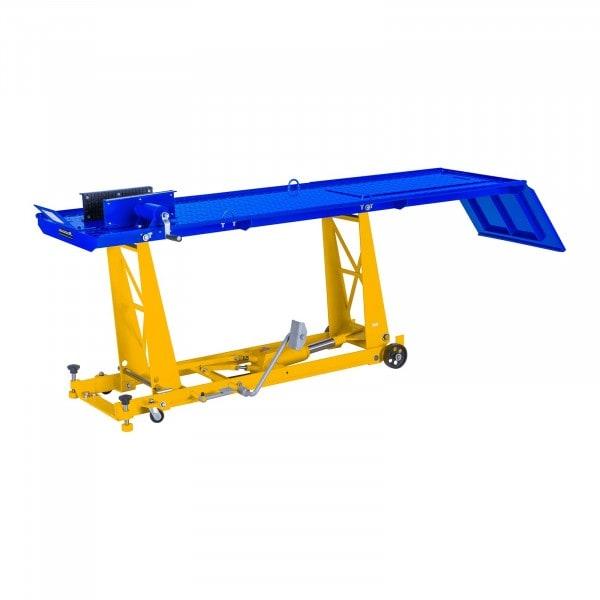 Table élévatrice moto - 450 kg - 220 x 68 cm - Fixation roue avant