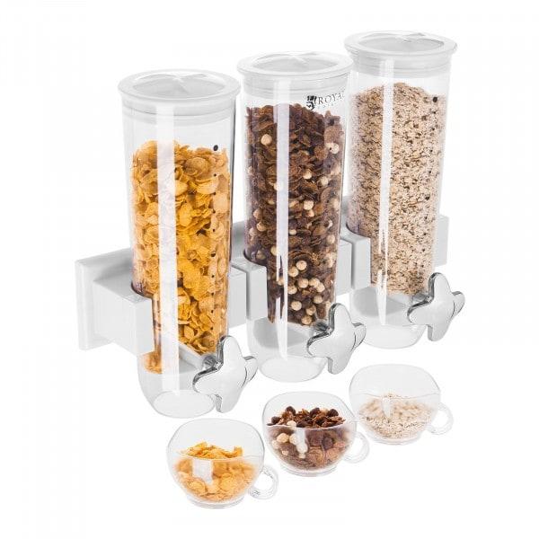 B-WARE Distributeur de céréales - 3 x 1,5 l