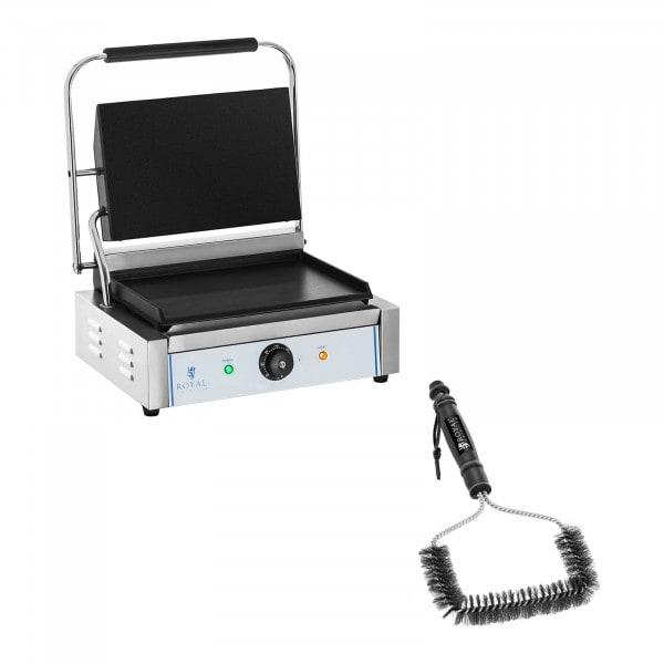 Kit machine à panini et brosse de nettoyage - 2 200 W - Plaques lisses