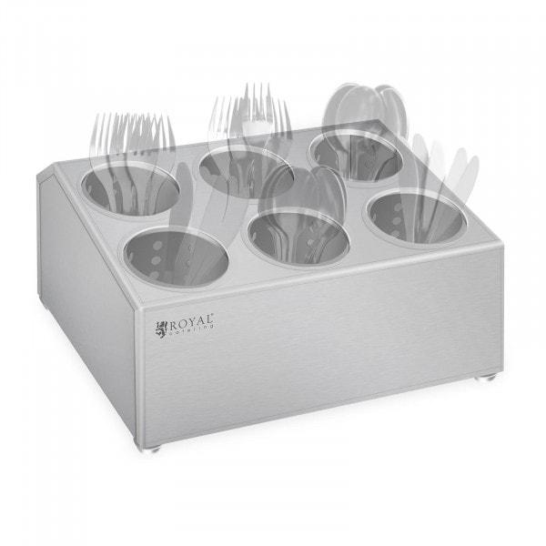 Range-couverts - acier inoxydable - pour 6 pots range-couverts