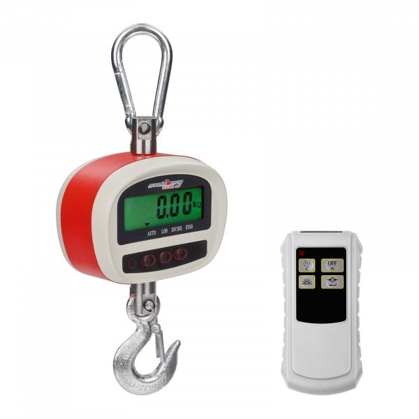 Crochet peseur - 300kg / 50g - LCD