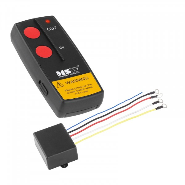Télécommande sans fil MSW-WR2 pour treuil électrique - 12 V - Portée de 30 m