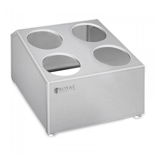 Occasion Range-couverts - acier inoxydable - pour 4 pots range-couverts