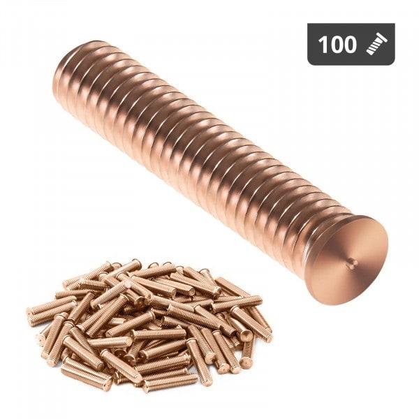 Goujons de soudage - M8 - 40 mm - Acier - 100 pièces