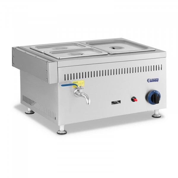 Bain-marie à gaz - 3300 W - GN 1 x 1/2 + 2 x 1/4 - 0,03 bar - G30